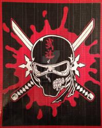 Zombie Ninja Duct Tape Art