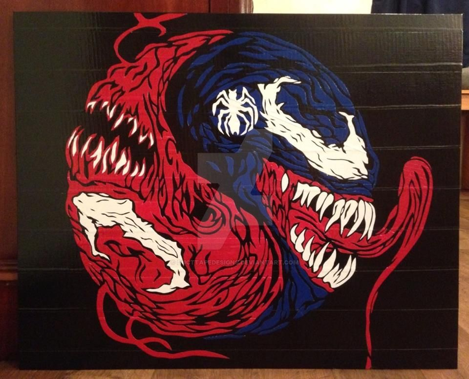Venom Carnage Duct Tape Art by DuctTapeDesigns
