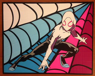 Spider Gwen Duct Tape Art by DuctTapeDesigns