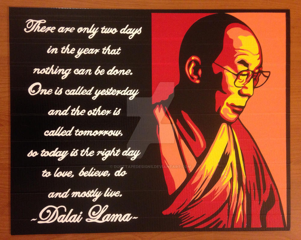 Dalai Lama Duct Tape Art by DuctTapeDesigns