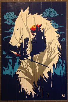 Princess Mononoke Duct Tape Art