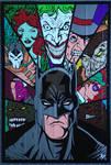 Batman Villains Duct Tape Art