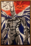 Duct Tape Batman Stained Glass Style