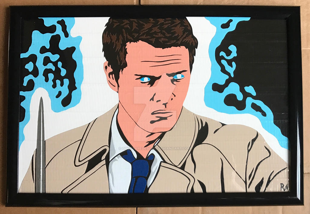 Castiel Duct Tape Art by DuctTapeDesigns