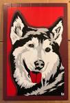 Husky Duct Tape Art