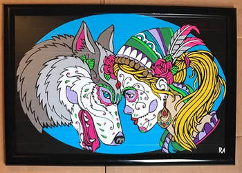 Wolf Girl Duct Tape Art by DuctTapeDesigns