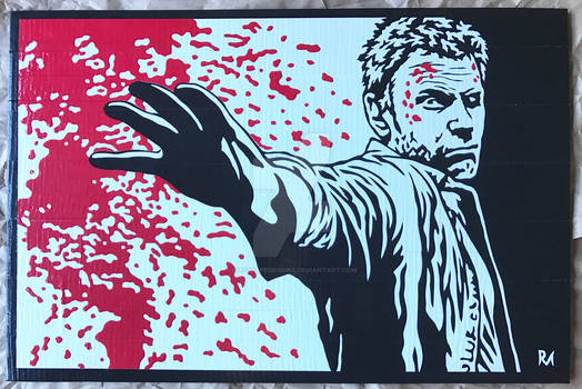 Supernatural Lucifer Duct Tape Art