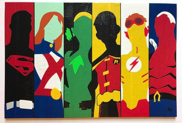 Young Justice Duct Tape Art