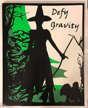 Wicked Defy Gravity Duct Tape Art by DuctTapeDesigns
