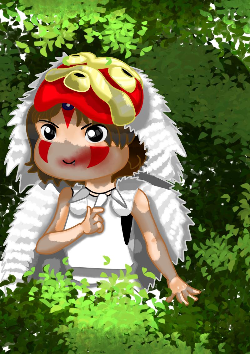 Chibi Princess Mononoke by 11yle