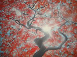 Autumn tree by martoo1973