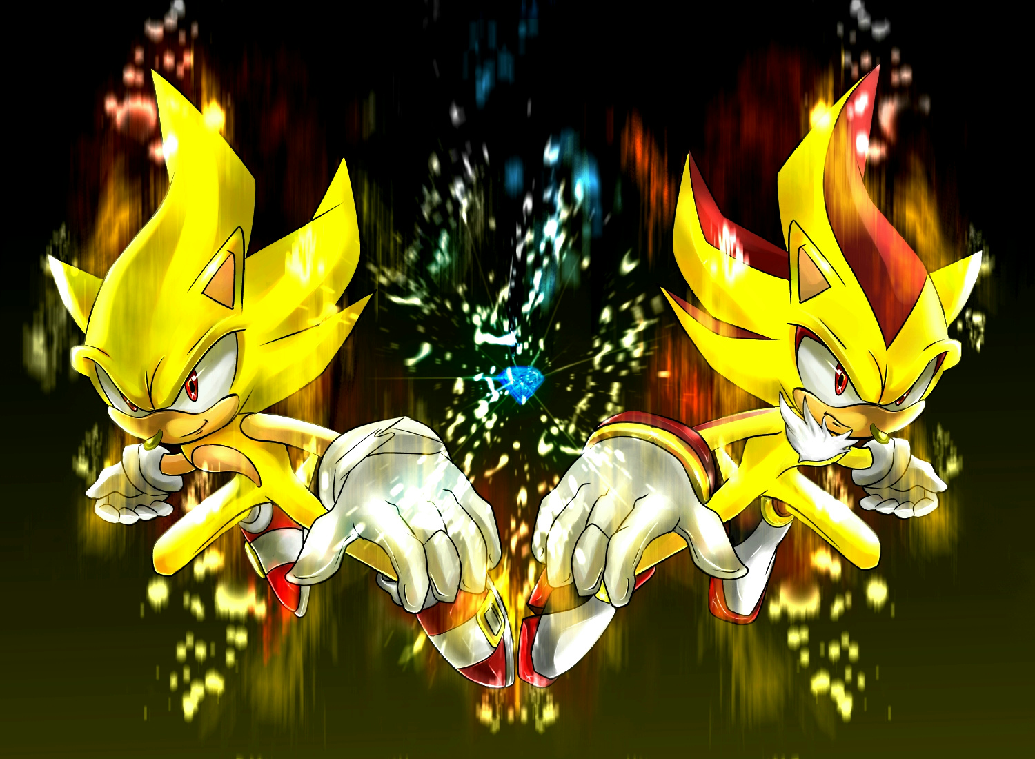 Super Sonic And Shadow By Ka1513 2