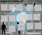 Zombie survival sheet 3 blank