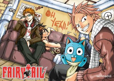 Fairy Tail: Loki, Gray and Natsu by lacrimadoll