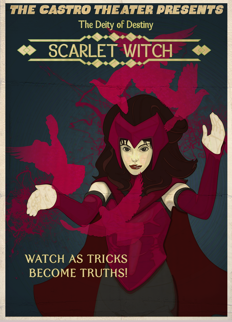 Scarlet Witch Poster by Octoped