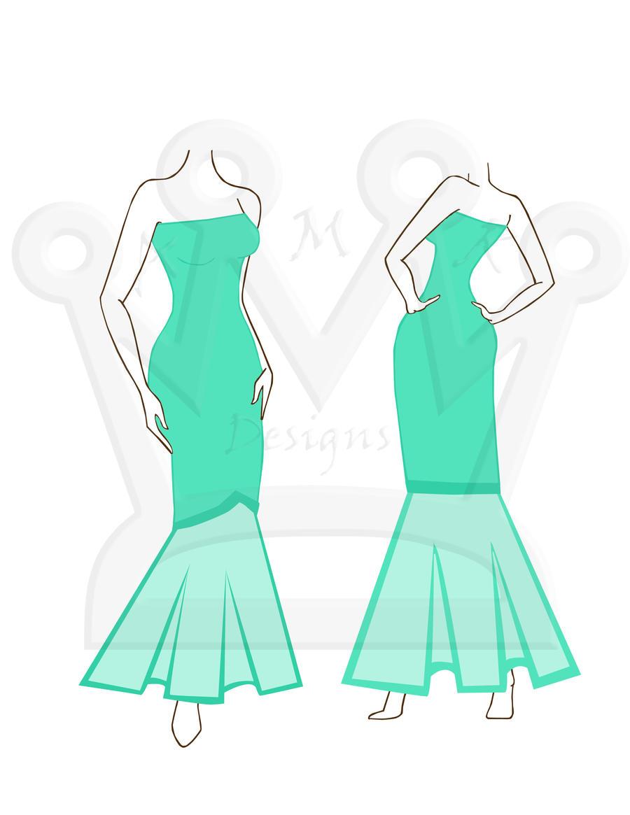 Little Mermaid Dress 1 by AMR-Designs