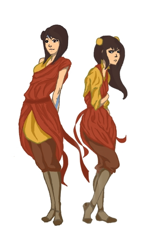 Jinora and Ikki by zuzubanna