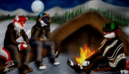 Camping with Friends by SnakeTeeth12