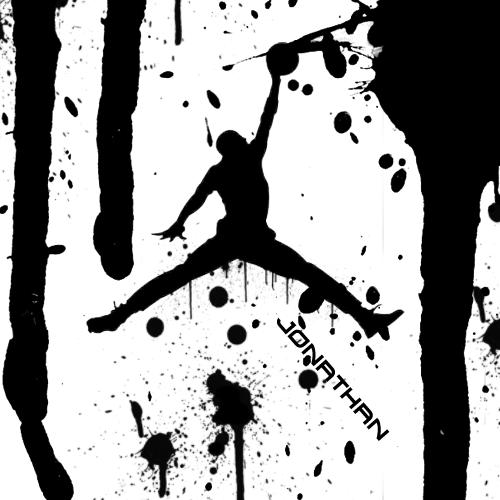 air jordan logo black