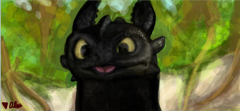 Toothless by dantae