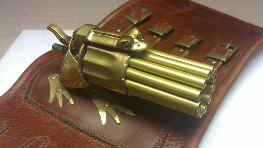 Steampunk wrist gun 'Little Froggy' _ by Arsenal-Best