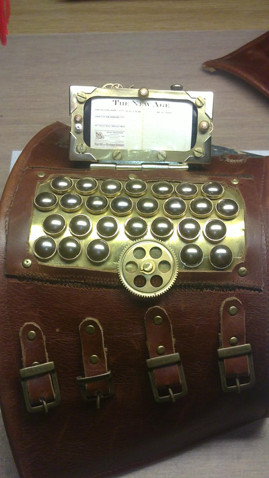 Steampunk wrist computer data bank by Arsenal-Best