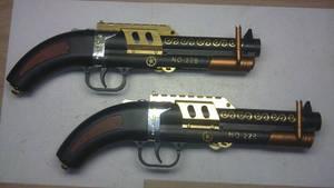 Steampunk steam gun twins ''the 228's''