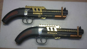 Steampunk steam gun twins ''the 228's'' by Arsenal-Best
