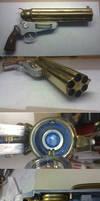 Steampunk Gruenwald Pepperbox Pistol 1.0