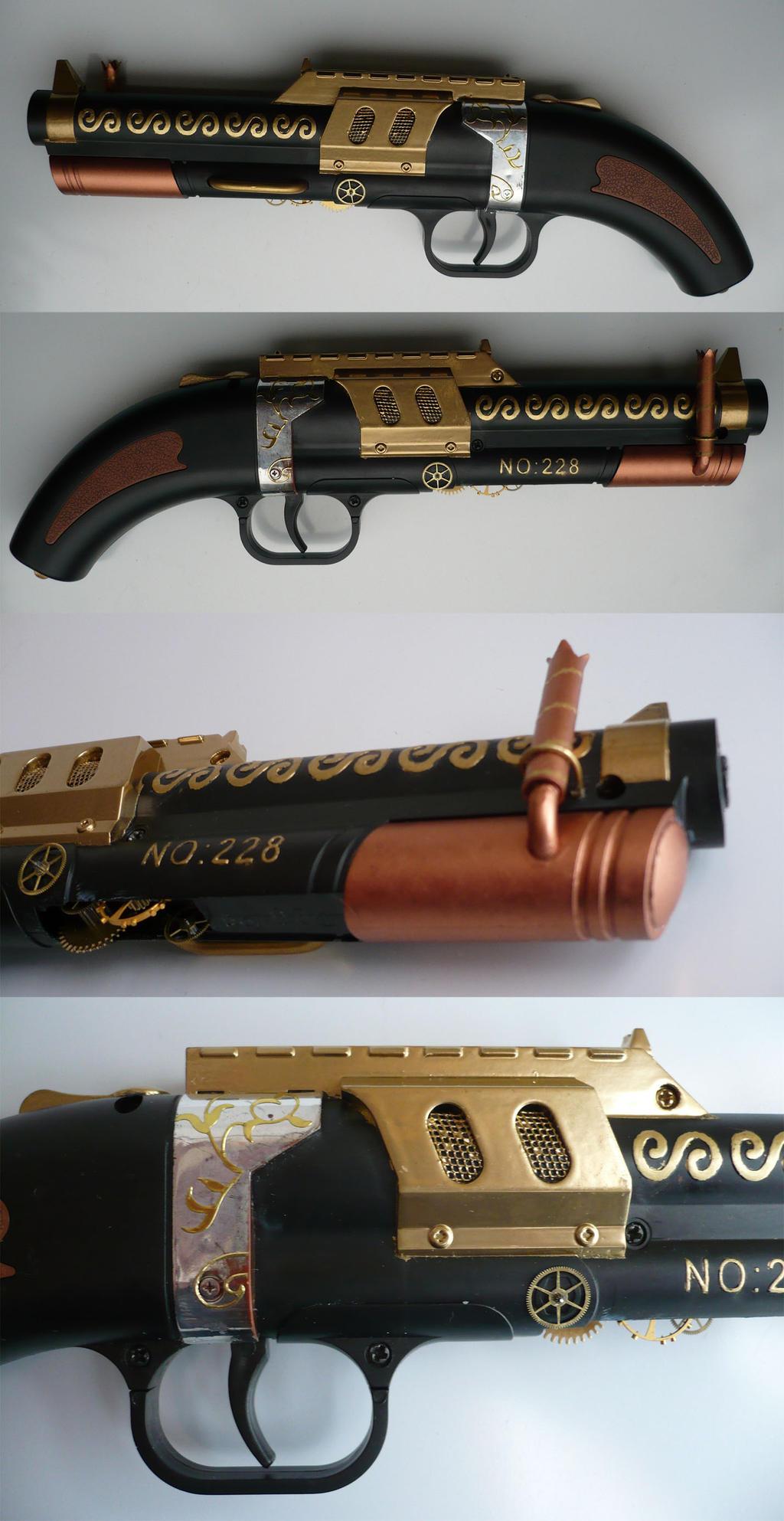 Steampunk no.228 Steam-pistol serial no. 001_01 by Arsenal-Best