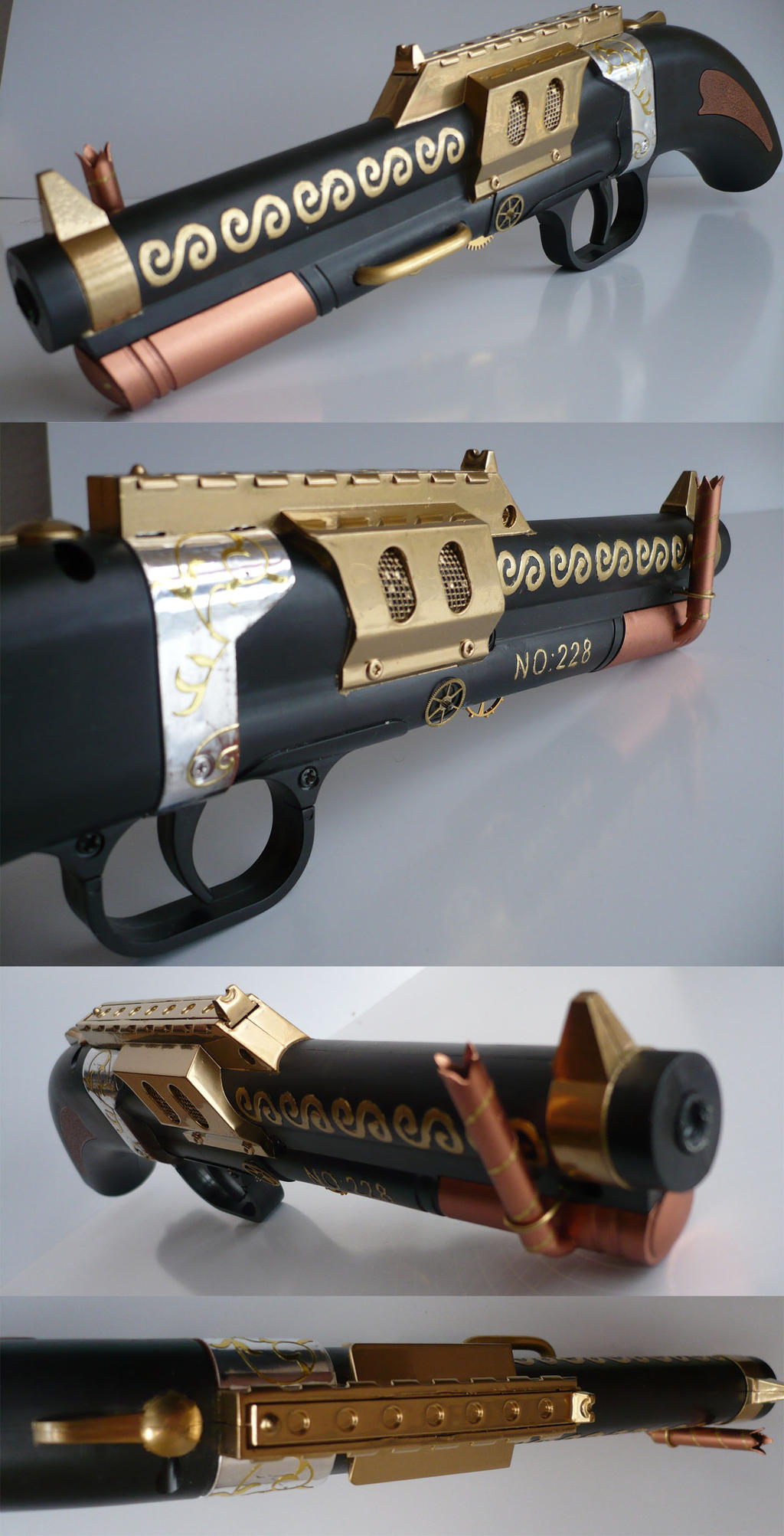 Steampunk no.228 Steam-pistol serial no. 001_02 by Arsenal-Best