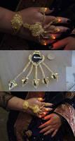 East India Bollywood Steampunk LED Slave Bracelet