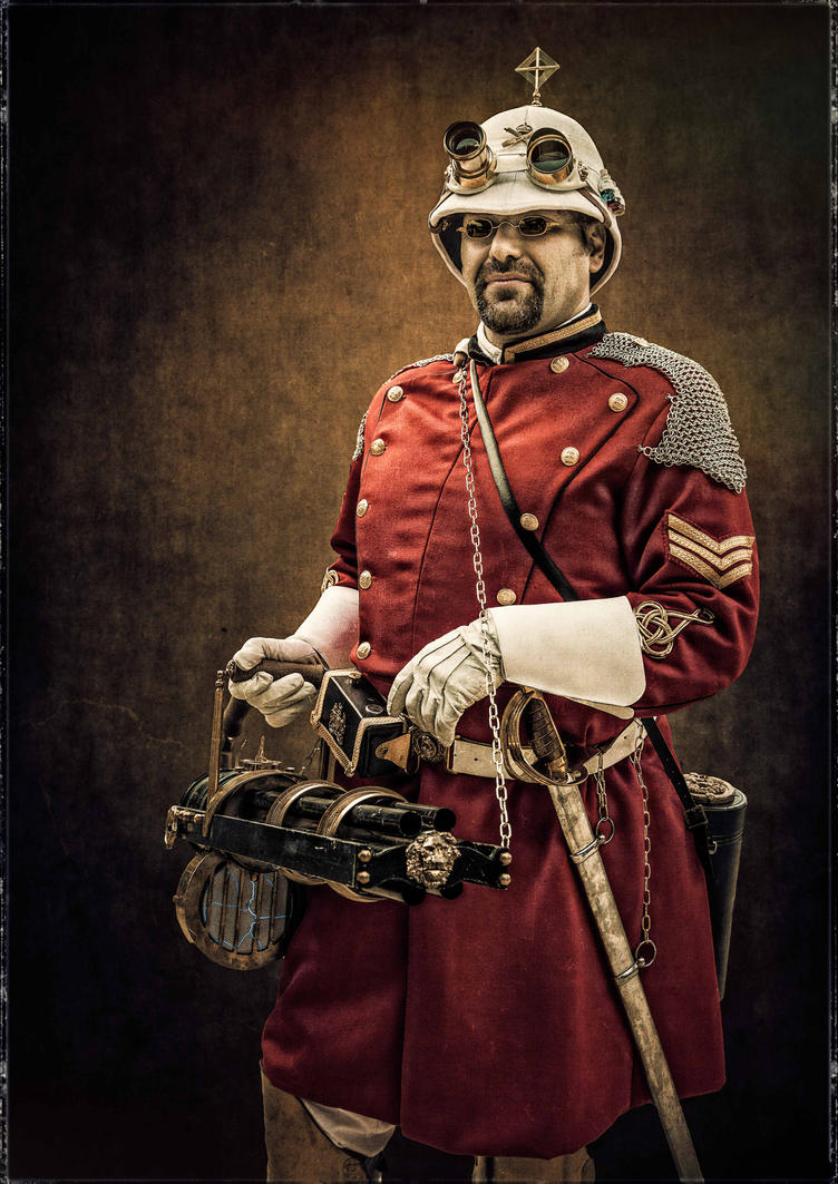 Portrait of MG Corps Sergeant with Gatling by Arsenal-Best