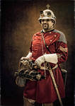 Portrait of MG Corps Sergeant with Gatling