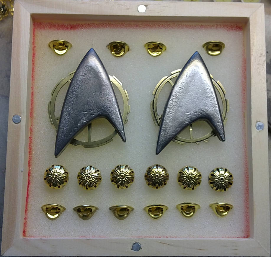 Steam Trek - Victorian Star Trek TNG Badges + Pips by Arsenal-Best