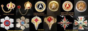 Steam Trek - Victorian Star Trek TNG - medals