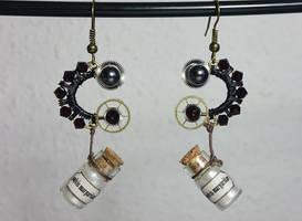 'Little Pearl - The Pharmacist' Steampunk earrings