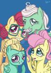 Fluttershy Family Portrait