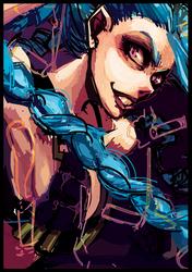 League of Legends -Jinx Sketch- by lightning-seal