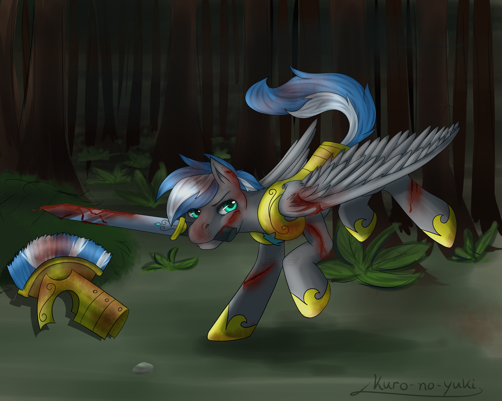 [Commission] Cloud Zapper in action! by Kuro-No-Yuki