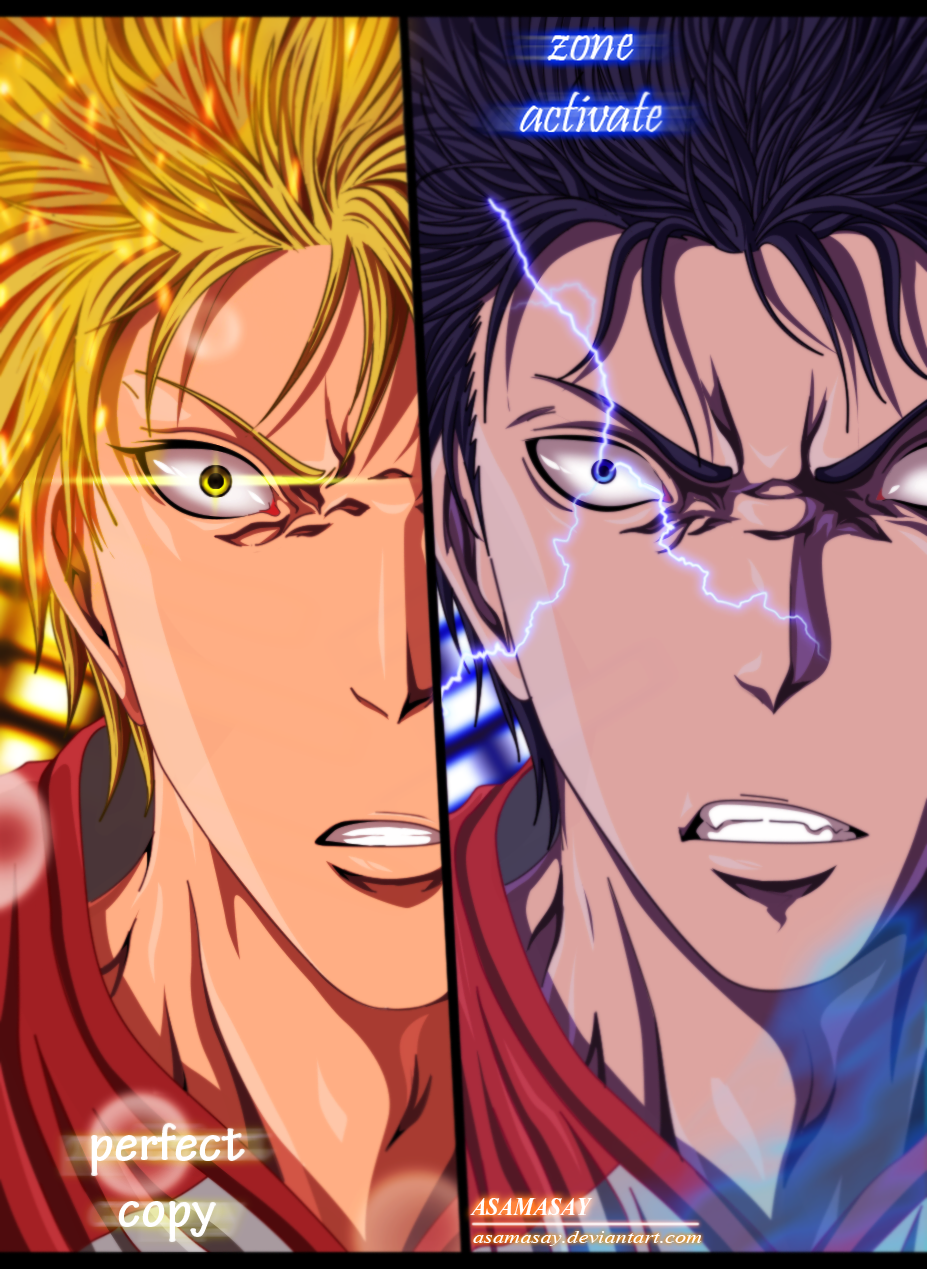 aomine x kise knb extra game by asamasay on deviantart