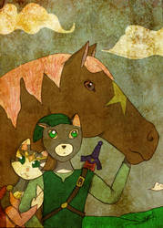 The Princess, The Cat and the Horse.