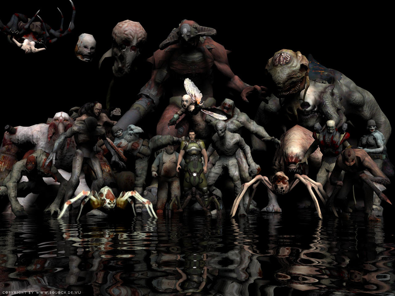 Doom 3 Family by Manhunter2k5