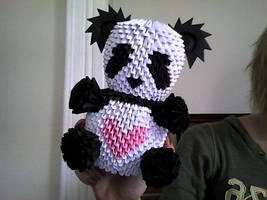 Yet another 3D origami panda