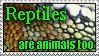 Reptiles Need Love stamp