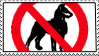 No Dogs Allowed stamp by SizzyBubbles