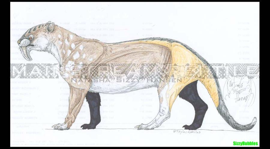 Thylacosmilus by SizzyBubbles