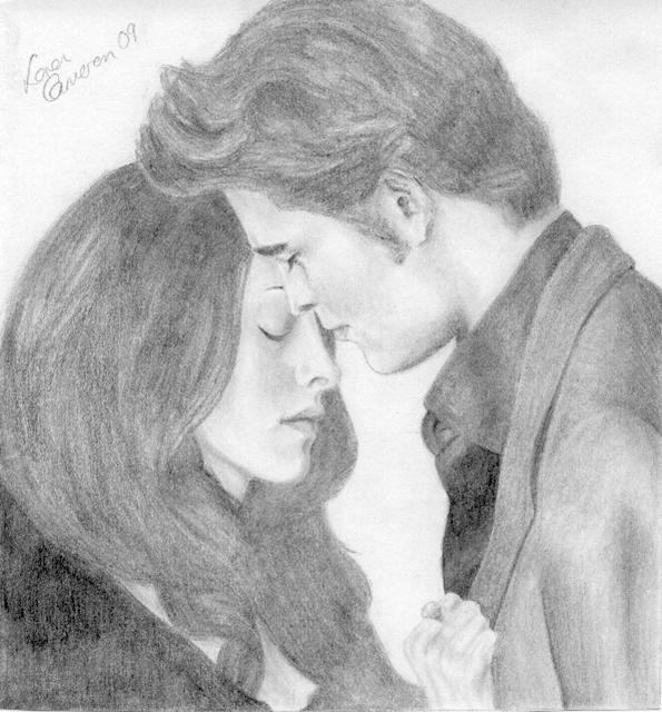 New Moon: Edward and Bella by lorcamart