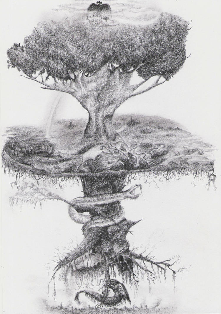 Yggdrasil Art Yggdrasil by dwarfeate...