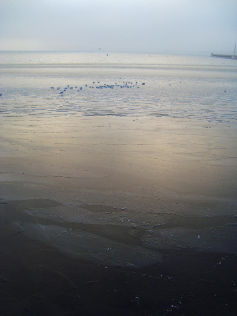Frozen Baltic Sea by dwarfeater